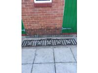 Used rought iron railings & gate