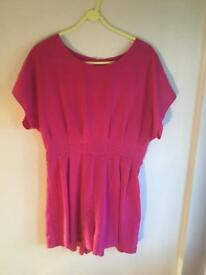 West One Pink Playsuit - Size Medium