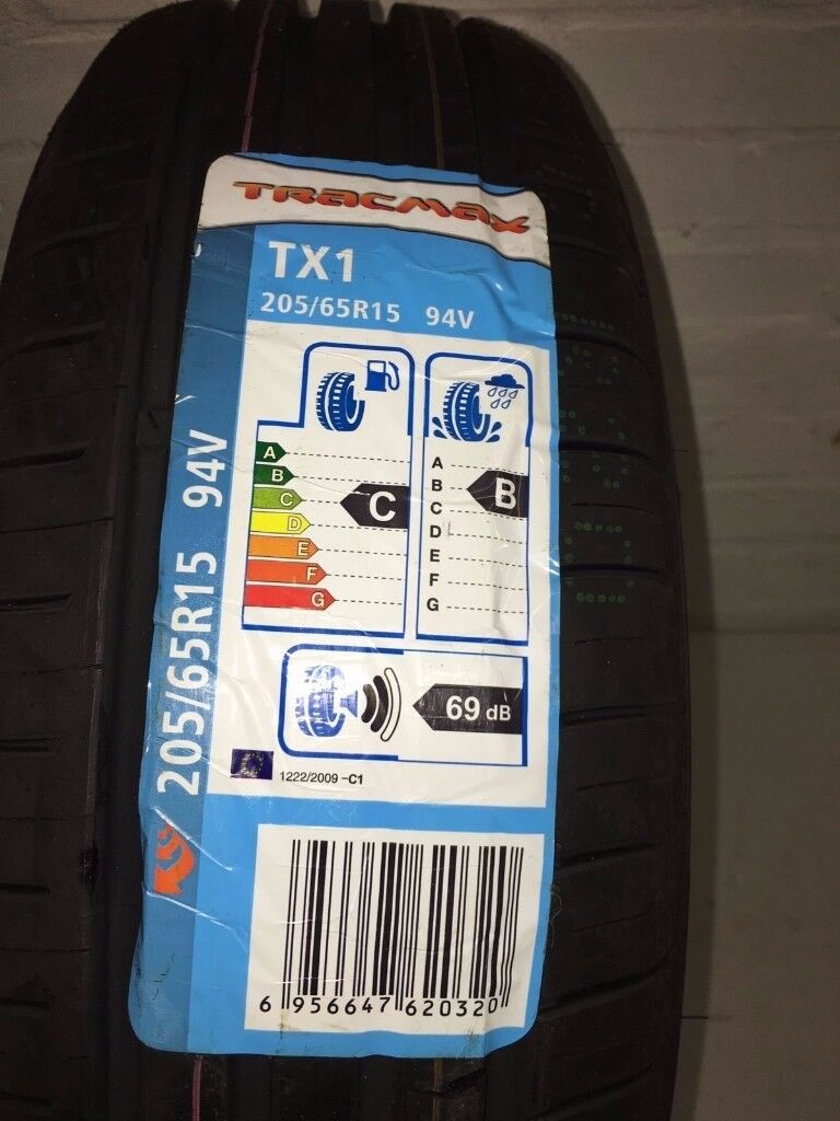 2X New 205 65 15 TRACMAX TX1 94V 205/65R15 2056515 *B WET GRIP* (2 TYRES)
