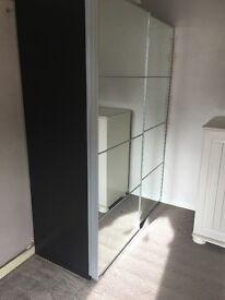 Ikea sliding mirror door wardrobe