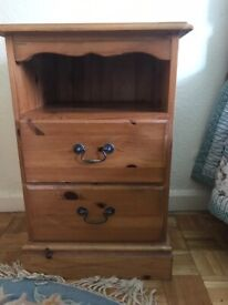 Pine bedside tables - excellent condition