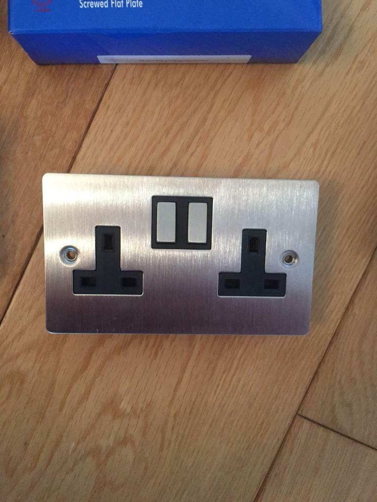 7 brand new flat plate light switches and sockets | in Ipswich ...