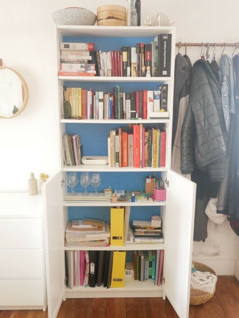 Bookcase Ikea Billy Bookcase 80x30x202 Oxberg Doors White In Walthamstow London Gumtree