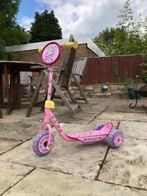 Fairy Girl 3 wheel scooter
