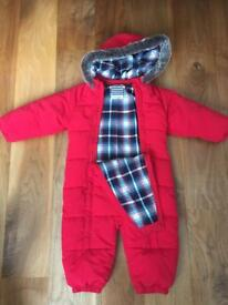 Brand new, never worn - John Lewis red snow suit aged 12-18 months old