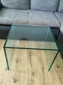 New glass coffee table