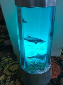 Beautiful dolphin lamp, very relaxing night light