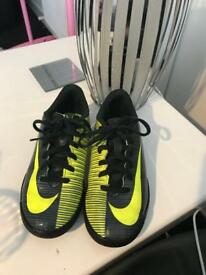 Boys size 1 football trainers