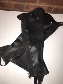 Leather chaps - kids/teen size small