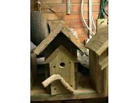 Handmade wooden bird box