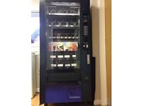 VENDING MACHINE FOR SNACKS AND CANS IN FULL WORKING ORDER - CHILLED CANS AND SNACKS