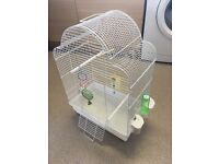 White Bird Cage with Toys, 60x41x24 EXCELLENT CONDITION