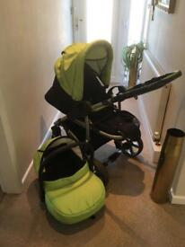 Katex car seat and reclining pushchair