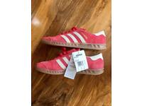Men's Adidas Hamburg trainers washed red suede size 8.5
