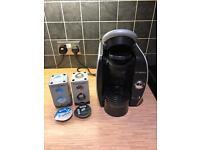 Bosch Tassimo coffee machine with cappuccino and espresso pods