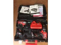 Milwaukee brushless set combo drill & impact 12 v