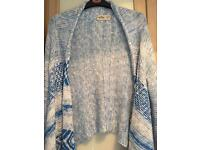 Hollister blue waterfall cardigan