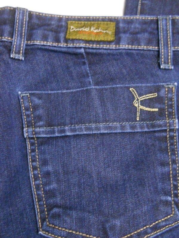 Women's David Kahn Jeans Nikki Flare Stretch Dark Wash Size 26
