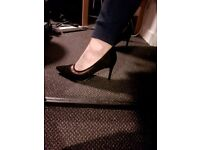Lovely Black Court Shoes, Size 5