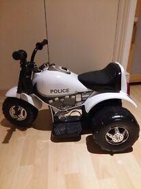 Toddler police motorbike