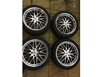 18 ALLOYS-DOTZ-- VERY NICE CONDITION-----18-40-235--AUDI-VW-SKODA--5X112
