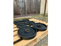 (SSTC) 40kg of Hampton Olympic Rubber Weight Plates (Delivery Available)
