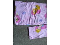 Princess toddler bed duvet set