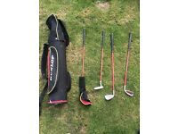 Kids golf clubs with bag great condition