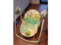 Bright Starts Electric Swing Rocker in good condition and clean