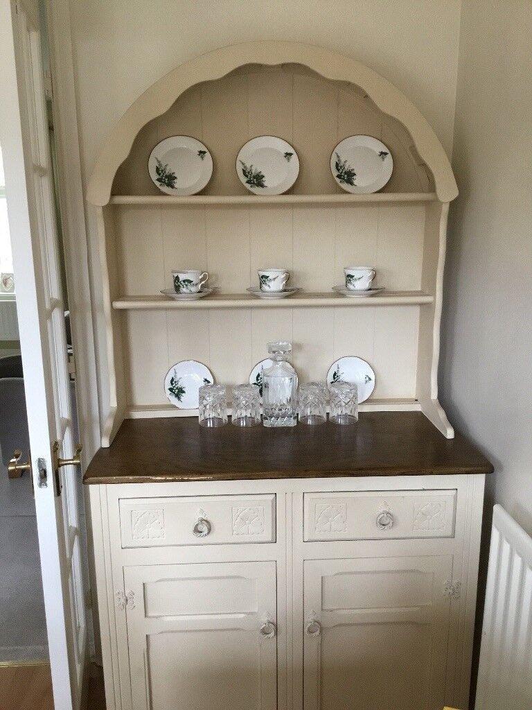 Solid Wood Cream Kitchen Dining Room Dresser