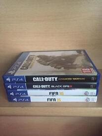 4 ps4 games fifa and call of duty