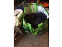 Bundle of boys sleepsuits and vest 9-12months