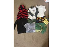 Age 4 boys t-shirts to long sleeve tops from next. Good condition