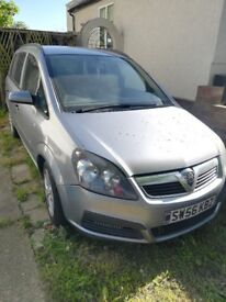 2007 Vauxhall Zafira Life 1600 miles 1.6 engine Petrol 7 seats 5 doors Driv runner in fair condition