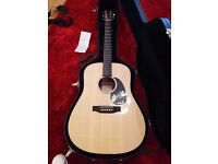 Martin Dreadnought Semi Acoustic Guitar withs USB connection and Oficial Martin flight case