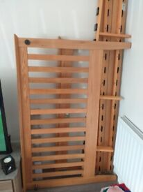 Pine double bed frame. Excellent condition