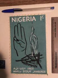 Africa Nigeria Stamp Art Antique