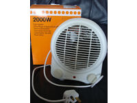 Small handy fan heater