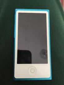 Blue iPod nano 16 gb