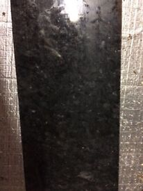 4.38m African black granite kitchen worktop in immaculate condition