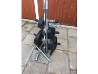 165kg BodyPower Olympic Weights Set with tree. •Can Deliver•