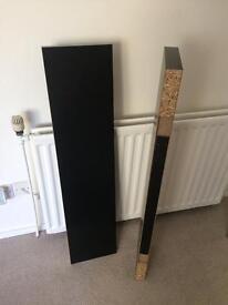 2 black 'Lack' floating shelves