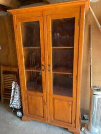 Glass fronted cabinet Free