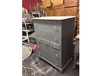 Stag chest of drawers