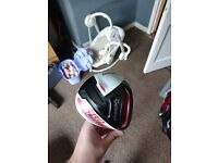 Taylormade driver , rescue , 3 wood