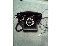 Traditional looking black landline phone