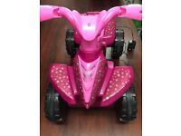 Pink quad bike