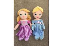 Disney princesses large soft toy x2