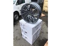 """4 18"""" alloy wheels alloys rims tyre tyres vw Volkswagen seat Skoda audi 5x112 Mercedes"""