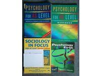 Psychology/Sociology Textbooks (UK Postage)